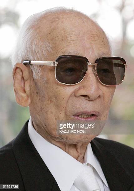 Momofuku Ando founder of Japan's Nissin Food Products Co attends an opening ceremony at the refurbished Instant Ramen Museum in Osaka 25 November...