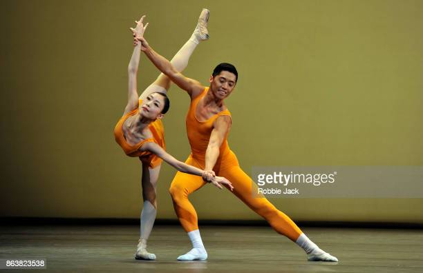 Momoko Hirata and TzuChao Chou in the Royal Ballet's production of Kenneth MacMillan's Concerto at The Royal Opera House on October 18 2017 in London...