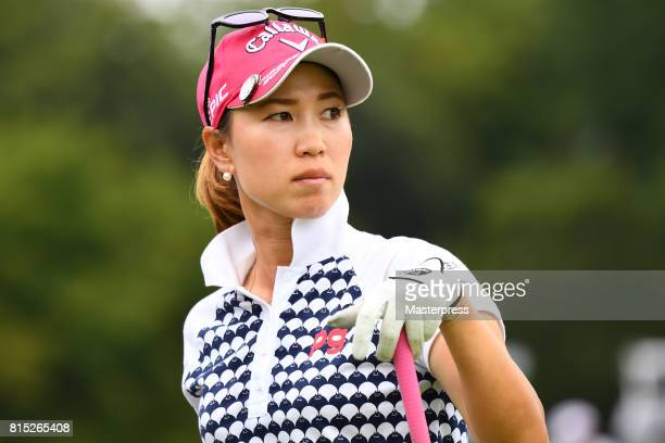 Momoko Ueda of Japan looks on during the final round of the Samantha Thavasa Girls Collection Ladies Tournament at the Eagle Point Golf Club on July...