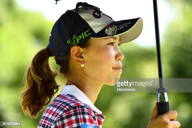 Momoko Ueda of Japan looks on during the second round of the Samantha Thavasa Girls Collection Ladies Tournament at the Eagle Point Golf Club on July...