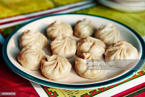 Momos, or dumplings at Kunga's