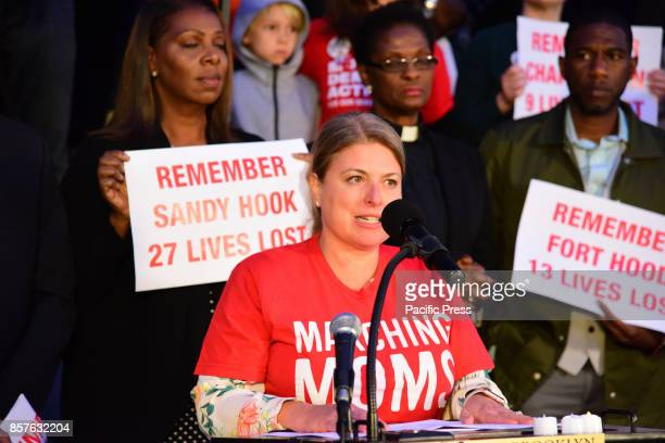 Moms Demand Action on hand to lend support to Las Vegas Victims during Brooklyn Borough President Eric Adams brought political and religious leaders...