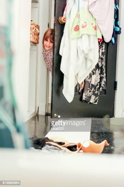 Maman dans le bain