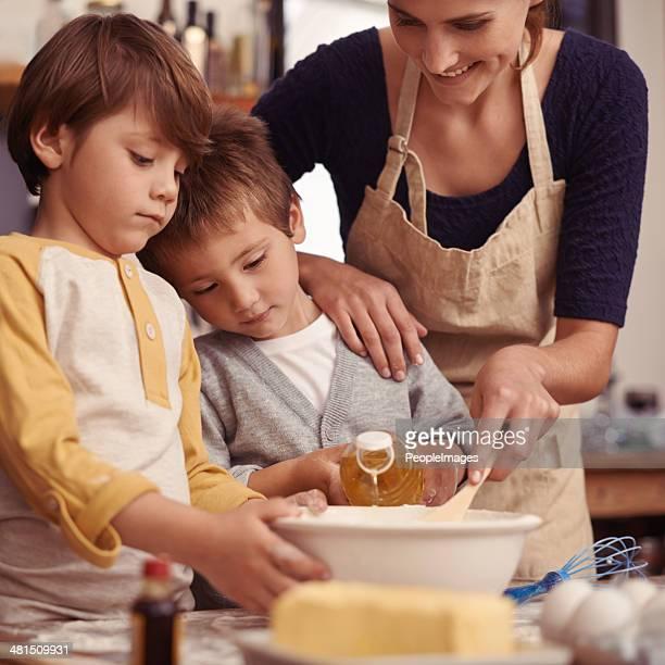Mama, die kleine Torte managen!