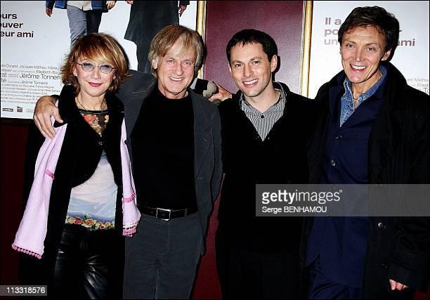 'Mon Meilleur Ami' Premiere In Paris France On December 11 2006 Marie Anne Chazel Dave MarcOlivier Fogiel and friend of Dave