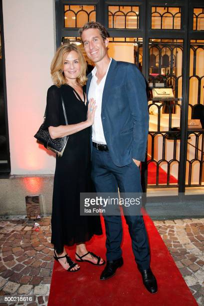 Mon Muellerschoen and her husband Oliver Fritz during the Christian Louboutin Store Opening on June 23 2017 in Munich Germany
