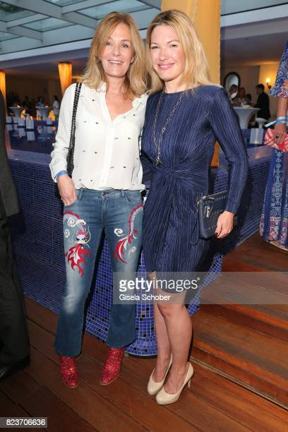 Mon Muellerschoen and Jessica Kastrop during the summer party of and at Hotel Bayerischer Hof on July 27 2017 in Munich Germany