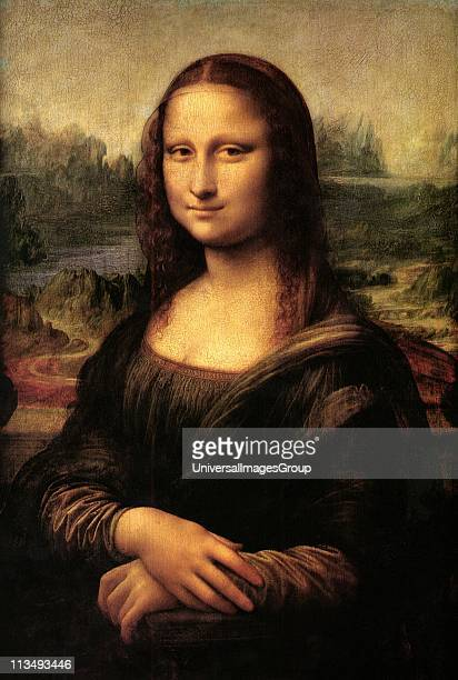 Mona Lisa' also called 'La Gioconda' or 'La Joconde' c15031506 Oil on wood Leonardo da Vinci Portrait of Lisa Gheradini the wife of Francesco del...