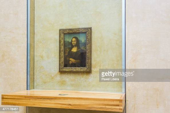 Mona Lisa paiting by Leonardo da Vinci at the Louvre Museum in Paris