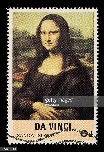 Mona Lisa postage stamp