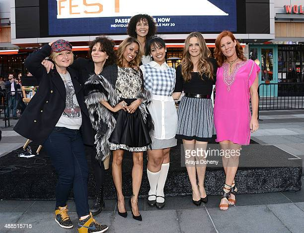 Mona May Amy Heckerling Stacey Dash Stephanie Allain Alicia Silverstone and Elisa Donovan attend the Film Independent's prefestival outdoor screening...