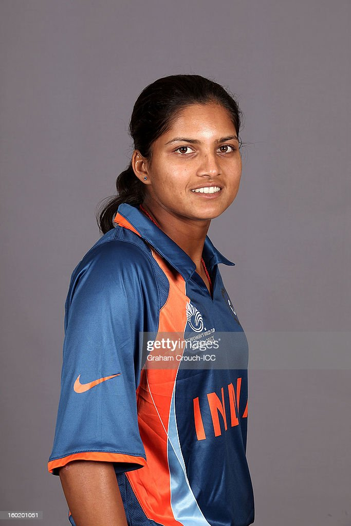 Mona Meshram of India poses at a portrait session ahead of the ICC Womens World Cup 2013 at the Taj Mahal Palace Hotel on January 27, 2013 in Mumbai, India.