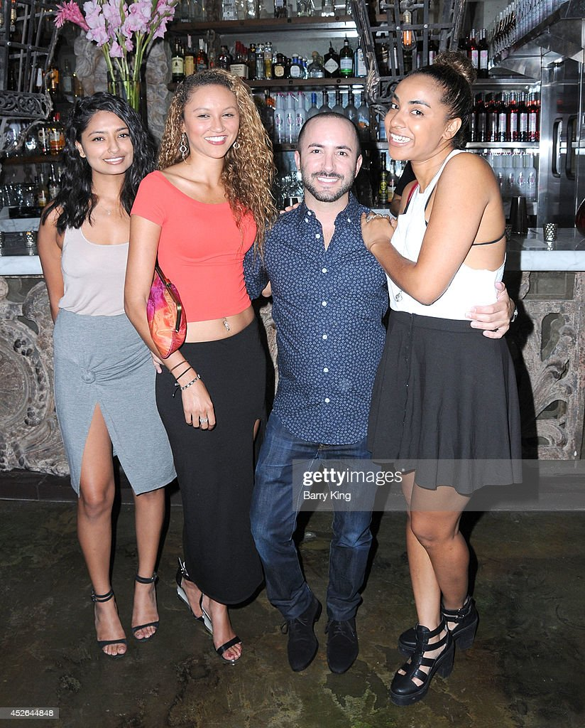 Mona Patel, Sophia Holman, agent David Todd and Lizzy Weinraub attend the DT Model Management 2 Year Anniversary Celebration on July 24, 2014 at Pump in West Hollywood, California.