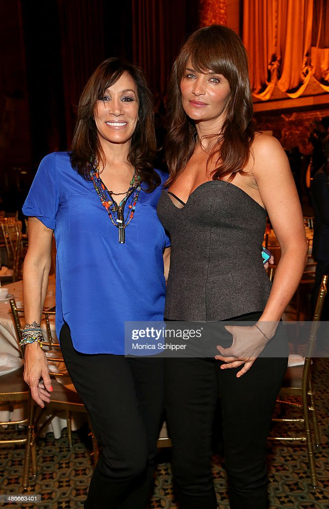 Mona Purdy and Helena Christensen attend Variety Power Of Women New York presented by FYI at Cipriani 42nd Street on April 25 2014 in New York City