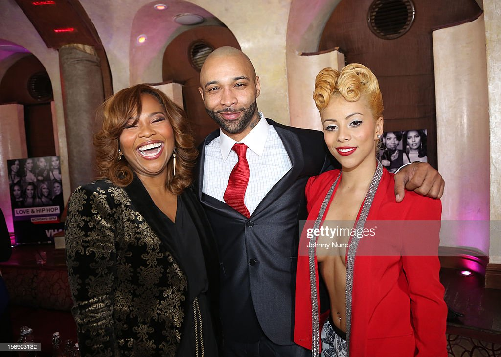 Mona Scott-Young, Joe Budden and Kaylin Garcia attend the 'Love & Hip Hop' Season 3 Premiere Party at Kiss & Fly on January 3, 2013 in New York City.