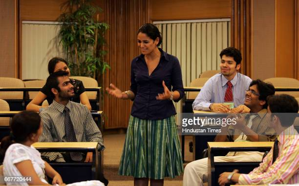 Mona Singh with MBA Students at Welingkar