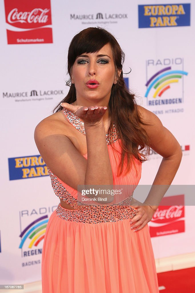 Mona Stoeckli attends the Radio Regenbogen Award 2013 at Europapark on April 19, 2013 in Rust, Germany.
