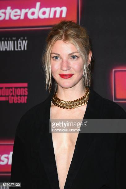 Mona Walravens attends the Gangsterdam Paris Premiere at Le Grand Rex on March 23 2017 i