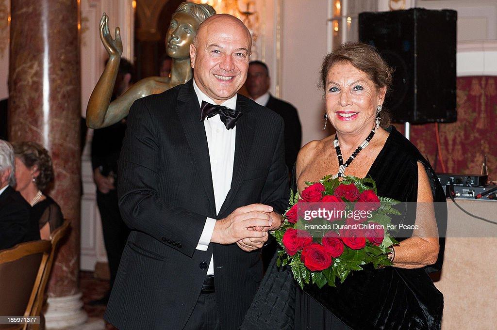 Monaco ambassador Antonio Morabito and Louisette Azzoaglio (for 16 years princess Grace's secretary) attend the 'Opera Romeo and Juliette' : Gala to the benefit of the The Children for Peace association, on October 26, 2013 in Monte-Carlo, Monaco.