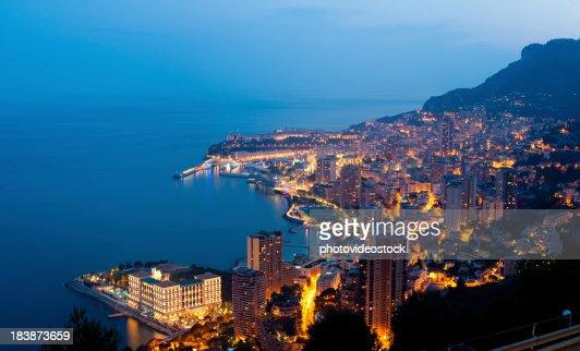 XXXL Monaco (Monte Carlo) by night panoramic