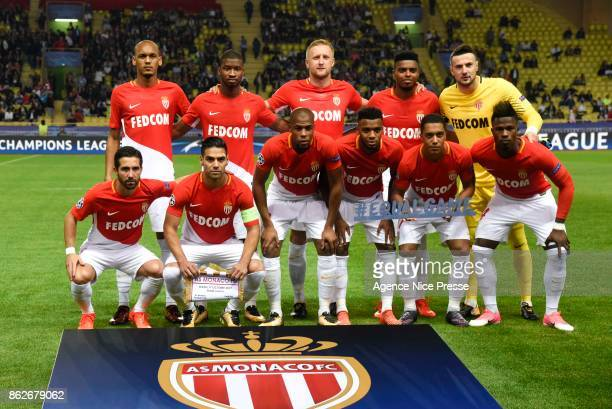 Monaco in line up during the UEFA Champions League match between AS Monaco and Besiktas Istanbul at Stade Louis II on October 17 2017 in Monaco Monaco