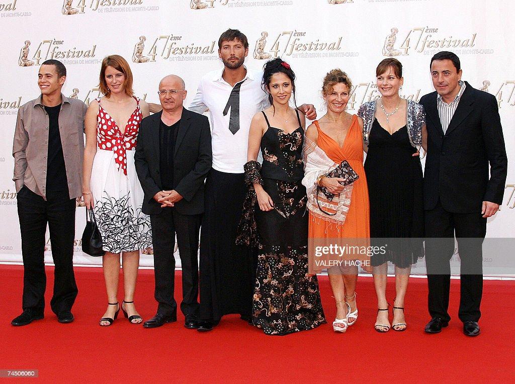 PBLV au Festival de Télévision Monte-Carlo Monaco-monaco-actors-of-french-tv-soap-plus-belle-la-vie-pose-10-june-picture-id74506060