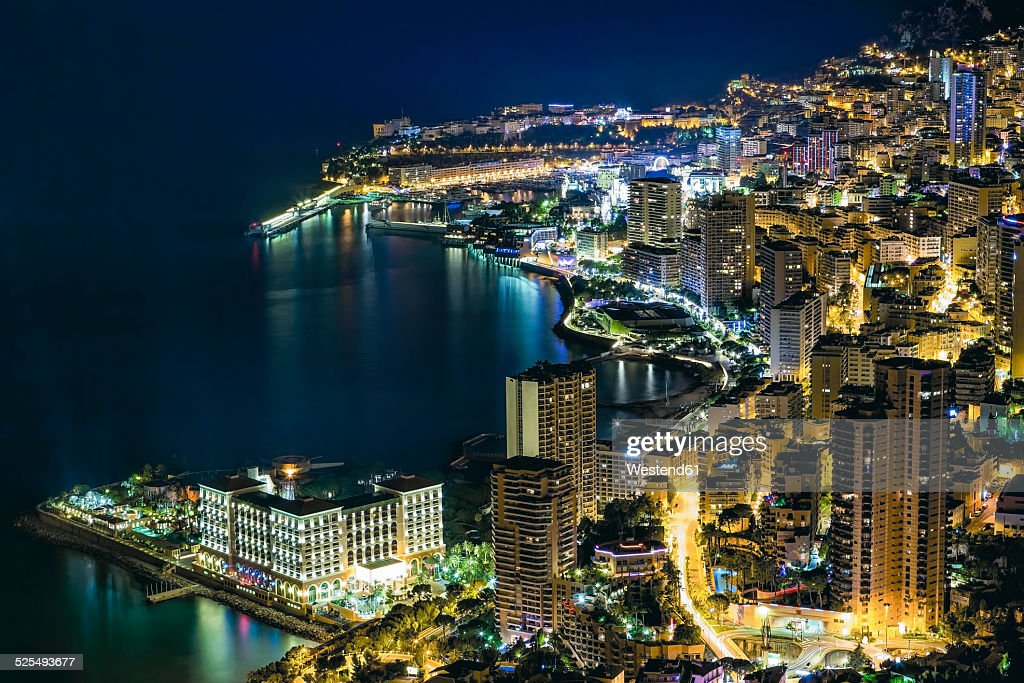 Monaco, Monte Carlo at night