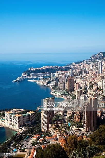 Monaco, Monte Carlo), vue panoramique (vertical