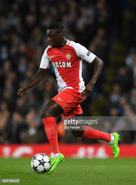 Monaco player Benjamin Mendy in action during the UEFA Champions League Round of 16 first leg match between Manchester City FC and AS Monaco at...