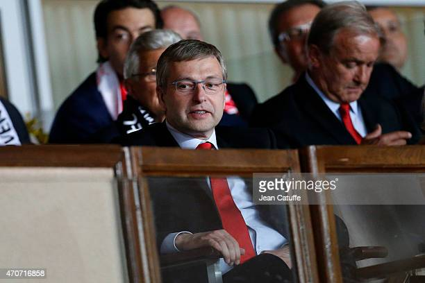 Monaco President Dmitri Rybolovlev attends the UEFA Champions League quarterfinal second leg match between AS Monaco FC and Juventus at Stade Louis...