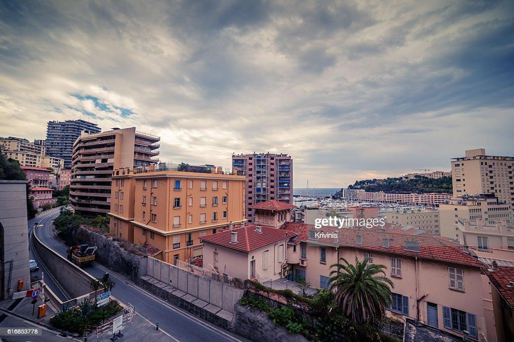 Monaco: top view of the city : Stock Photo