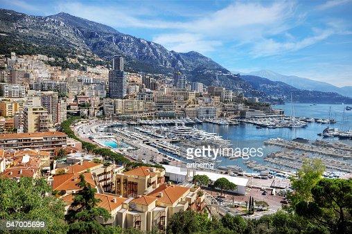 Monaco, View of La Condamine and Monte Carlo