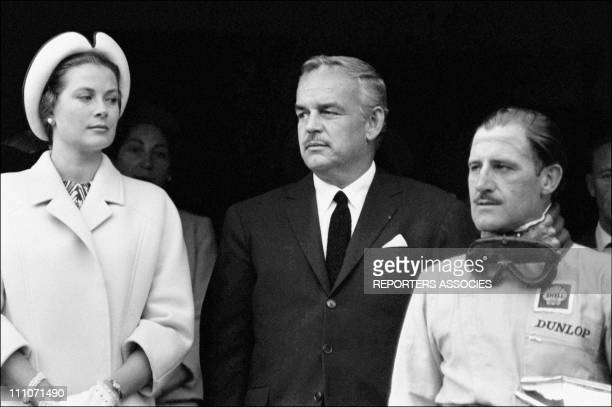 Monaco/Grand Prize Of F1 Princess Grace And Prince Rainier With Winner Graham Hill In Monaco On May 31 1965