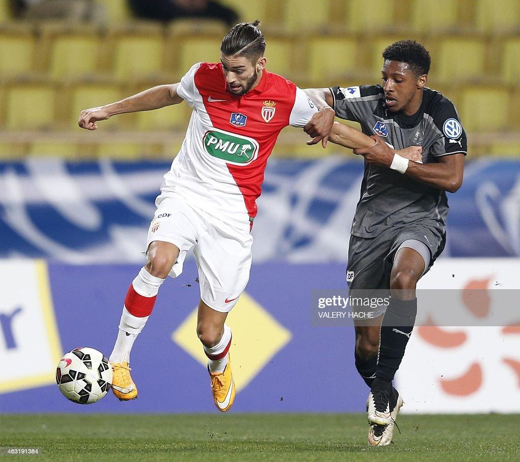 Monaco s Belgian midfielder Yannick Ferreira Carrasco L vies
