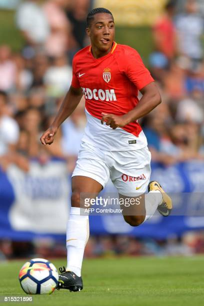 Monaco's Belgian miedfielder Youri Tielemans controls the ball during a friendly football match between AS Monaco and Stoke City FC on July 15 2017...
