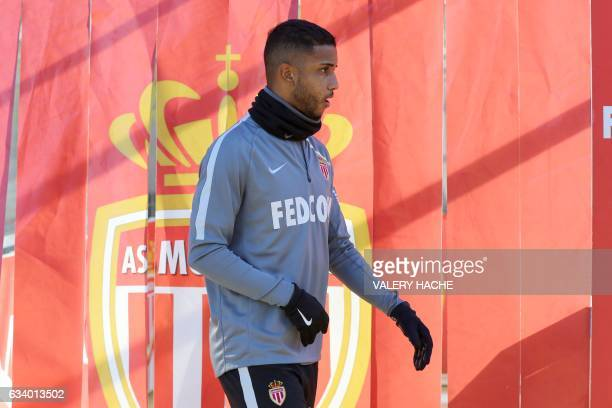 AS Monaco's Brazilian defender Jorge arrives to take part in a football training session on February 6 2017 at the 'Louis II Stadium' in Monaco / AFP...