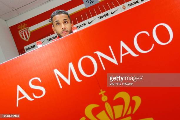 Monaco's Brazilian defender Jorge speaks during the press conference of his official presentation at the AS Monaco football team on February 6 2017...