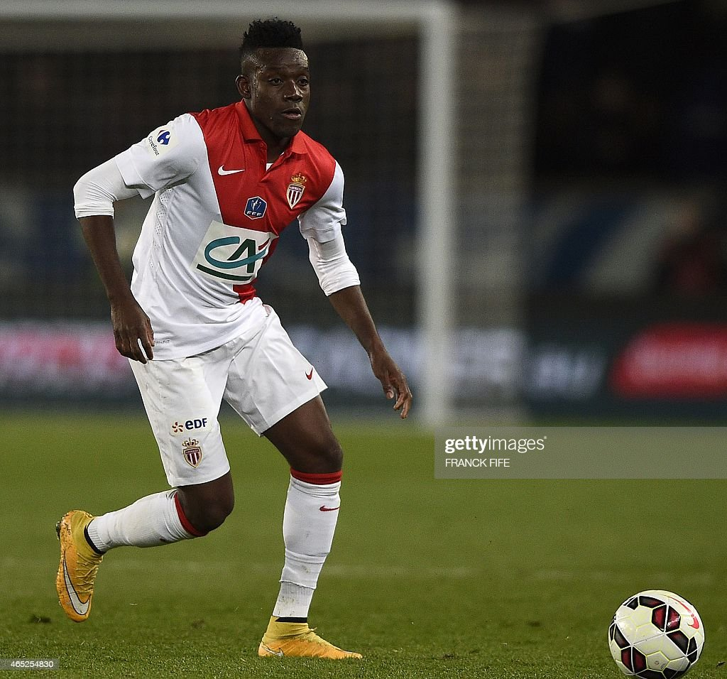 Monaco's defender <a gi-track='captionPersonalityLinkClicked' href=/galleries/search?phrase=Alain+Traore&family=editorial&specificpeople=4146262 ng-click='$event.stopPropagation()'>Alain Traore</a> controls the ball during the French Cup football match between Paris Saint-Germain (PSG) and Monaco on February 4, 2015 at the Parc des Princes stadium in Paris. Paris won 2-0.