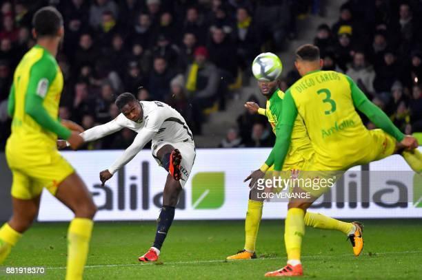 Monaco's forward Keita Balde kicks the ball during the French L1 football match Nantes vs Monaco at the La Beaujoire stadium in Nantes western France...
