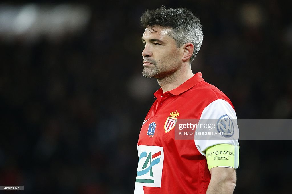Monaco's French midfielder <a gi-track='captionPersonalityLinkClicked' href=/galleries/search?phrase=Jeremy+Toulalan&family=editorial&specificpeople=4321622 ng-click='$event.stopPropagation()'>Jeremy Toulalan</a> reacts during the French Cup football match between Paris Saint-Germain (PSG) and Monaco at the Parc des Princes stadium in Paris on March 4, 2015.