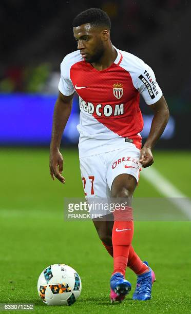 Monaco's French midfielder Thomas Lemar controls the ball during the French L1 football match between Paris SaintGermain and Monaco at the Parc des...