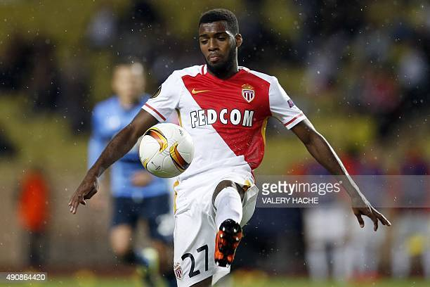 Monaco's French midfielder Thomas Lemar plays the ball during the UEFA Europa League group J football match between AS Monaco and Tottenham Hotspur...