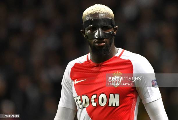 Monaco's French midfielder Tiemoue Bakayoko looks on during the UEFA Champions League semifinal first leg football match Monaco versus Juventus at...