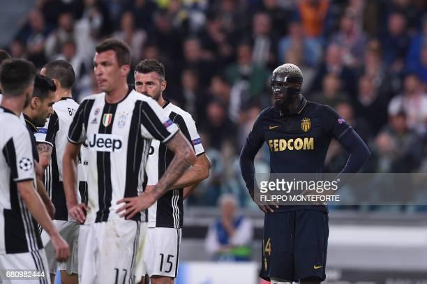 Monaco's French midfielder Tiemoue Bakayoko looks on during the UEFA Champions League semi final second leg football match Juventus vs Monaco on May...
