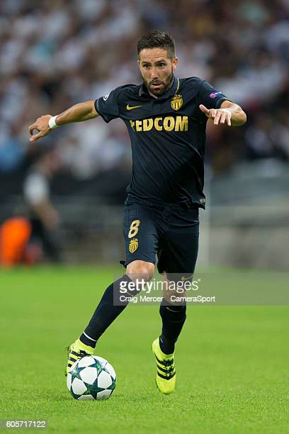 Monaco's Joao Moutinho in action during the UEFA Champions League match between Tottenham Hotspur FC and AS Monaco FC at Wembley Stadium on September...