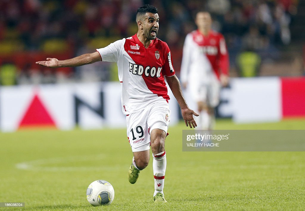 Monaco's Moroccan midfielder Mounir Obbadi gestures during the French L1 football match Monaco (ASM) vs Lyon (OL) on October 27, 2013 at the Louis II Stadium in Monaco.