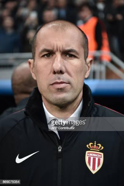 Monaco's Portuguese coach Leonardo Jardim attends the UEFA Champions League Group G football match between Besiktas and Monaco on November 1 at the...