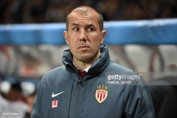 Monaco's Portuguese head coach Leonardo Jardim looks on prior to the UEFA Champions League quarter final second leg football match AS Monaco vs...