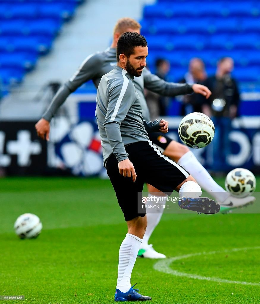 Monaco s Portuguese midfielder Bernardo Silva controls the ball