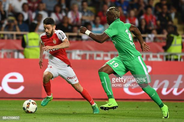 Monaco's Portuguese midfielder Bernardo Silva vies with SaintEtienne's French defender Florentin Pogba during the French L1 football match Monaco vs...